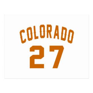 Colorado 27 Birthday Designs Postcard
