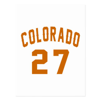 Colorado 27 Birthday Designs Postcard