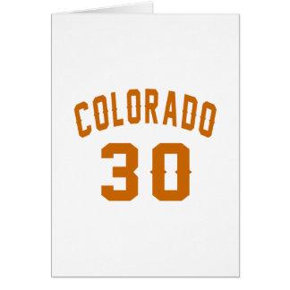 Colorado 30 Birthday Designs Card
