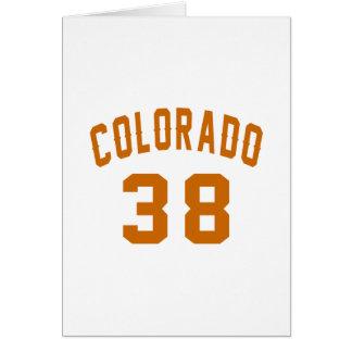 Colorado 38 Birthday Designs Card