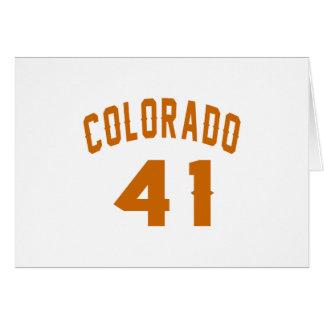 Colorado 41 Birthday Designs Card