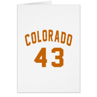 Colorado 43 Birthday Designs Card