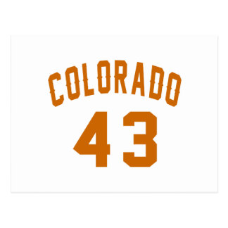 Colorado 43 Birthday Designs Postcard