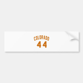 Colorado 44 Birthday Designs Bumper Sticker