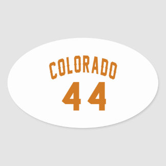 Colorado 44 Birthday Designs Oval Sticker