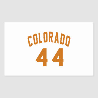 Colorado 44 Birthday Designs Rectangular Sticker
