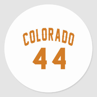 Colorado 44 Birthday Designs Round Sticker