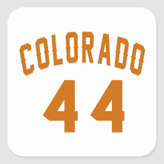 Colorado 44 Birthday Designs Square Sticker