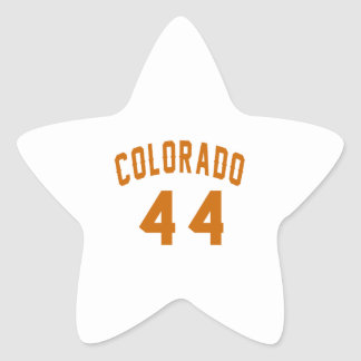 Colorado 44 Birthday Designs Star Sticker