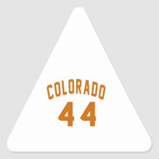 Colorado 44 Birthday Designs Triangle Sticker