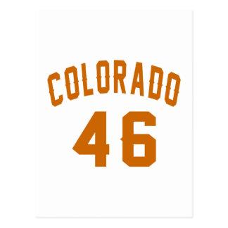Colorado 46 Birthday Designs Postcard