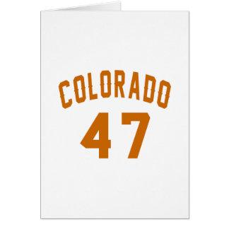 Colorado 47 Birthday Designs Card