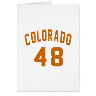 Colorado 48 Birthday Designs Card