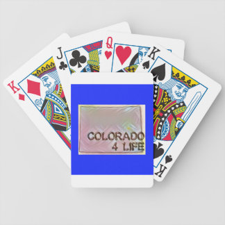 """""""Colorado 4 Life"""" State Map Pride Design Bicycle Playing Cards"""