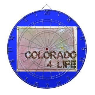 """Colorado 4 Life"" State Map Pride Design Dartboard"
