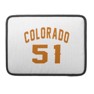 Colorado 51 Birthday Designs MacBook Pro Sleeve