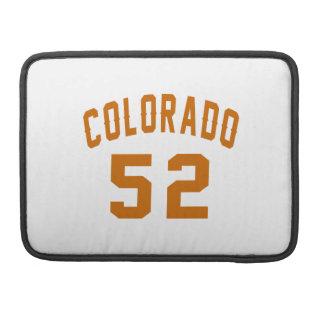 Colorado 52 Birthday Designs MacBook Pro Sleeves