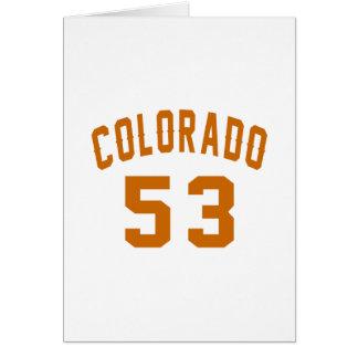 Colorado 53 Birthday Designs Card