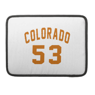 Colorado 53 Birthday Designs Sleeves For MacBook Pro