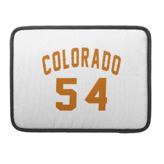 Colorado 54 Birthday Designs Sleeve For MacBooks