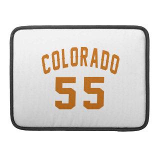 Colorado 55 Birthday Designs MacBook Pro Sleeves