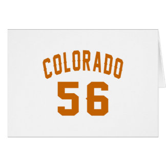 Colorado 56 Birthday Designs Card