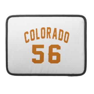 Colorado 56 Birthday Designs MacBook Pro Sleeve