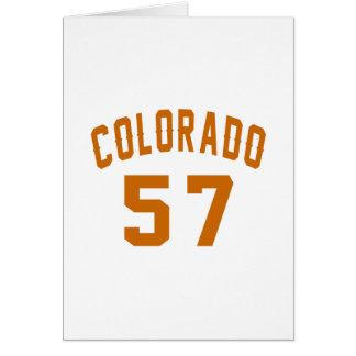 Colorado 57 Birthday Designs Card