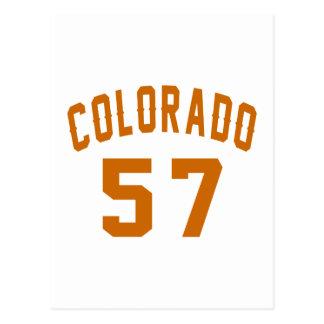 Colorado 57 Birthday Designs Postcard