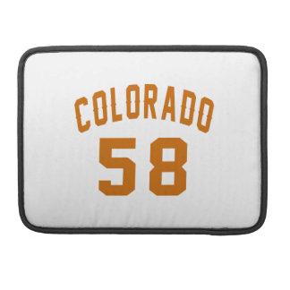 Colorado 58 Birthday Designs Sleeves For MacBooks