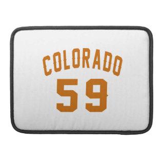 Colorado 59 Birthday Designs Sleeve For MacBook Pro