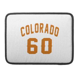 Colorado 60 Birthday Designs Sleeve For MacBook Pro
