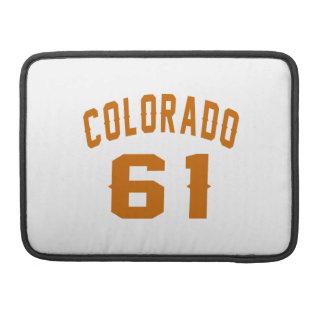Colorado 61 Birthday Designs Sleeves For MacBook Pro