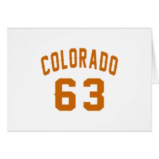 Colorado 63 Birthday Designs Card