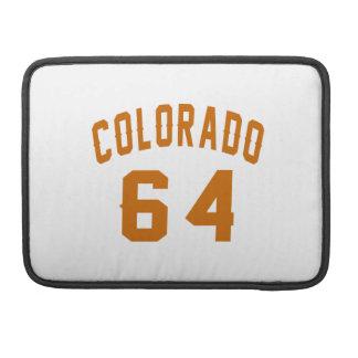 Colorado 64 Birthday Designs Sleeve For MacBook Pro
