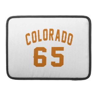 Colorado 65 Birthday Designs Sleeve For MacBooks