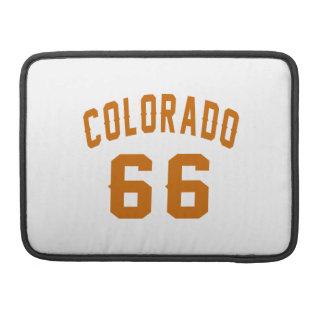 Colorado 66 Birthday Designs MacBook Pro Sleeve