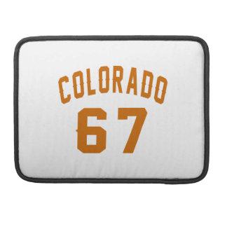 Colorado 67 Birthday Designs MacBook Pro Sleeves
