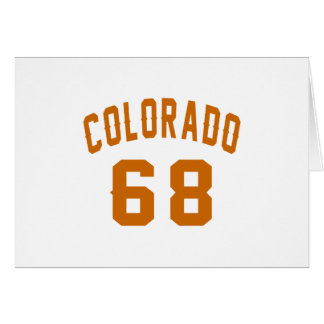 Colorado 68 Birthday Designs Card