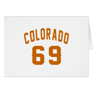 Colorado 69 Birthday Designs Card