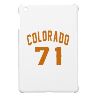 Colorado 71 Birthday Designs iPad Mini Cover