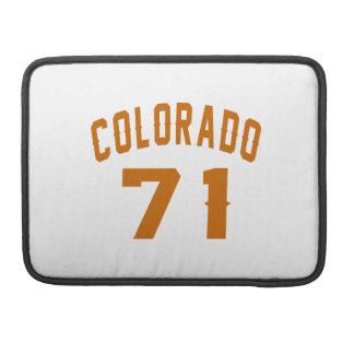 Colorado 71 Birthday Designs Sleeve For MacBooks
