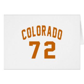 Colorado 72 Birthday Designs Card