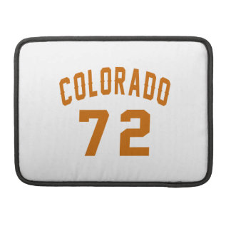 Colorado 72 Birthday Designs Sleeve For MacBooks