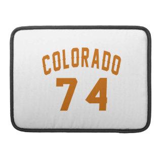 Colorado 74 Birthday Designs MacBook Pro Sleeve