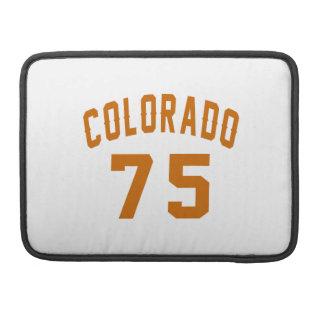 Colorado 75 Birthday Designs Sleeve For MacBooks