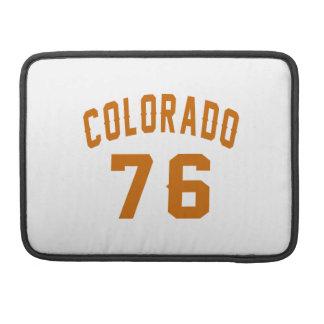 Colorado 76 Birthday Designs Sleeves For MacBooks