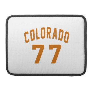 Colorado 77 Birthday Designs Sleeves For MacBook Pro