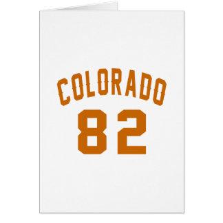 Colorado 82 Birthday Designs Card