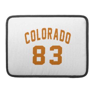 Colorado 83 Birthday Designs Sleeves For MacBook Pro